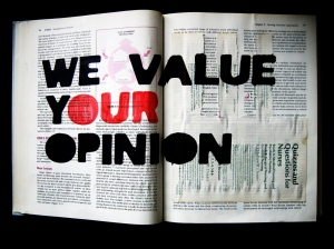 value your opinion